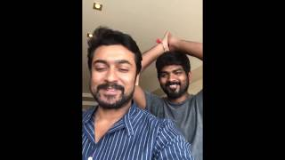 Actor Suriya & Vignesh Shivan Wishing Happy Pongal in Tamil