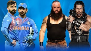 M.S Dhoni & Virat Kohli VS Braun Strowman & Roman Reigns - WWE Fight