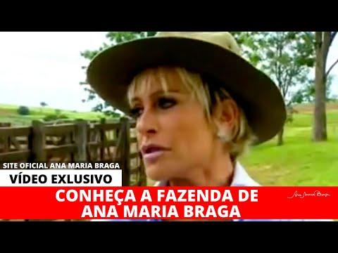 Ana Maria Braga em sua fazenda