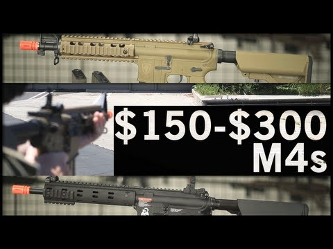 Airsoft GI - $150-$300 Mid-Level M4s. JG, Elite Force, AirsoftGI G4 Custom, and G&G