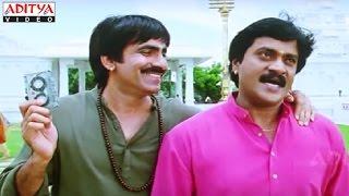 Sunil And Ravi Teja Temple Comedy Scene in Khallas Hindi Movie