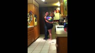 Army son surprises mom big time (turn on captions)!