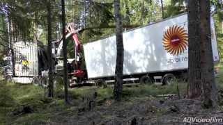 2015 Scania R620 8x4   BRUKS Mobile Chipper ,Sweden 720p Driven HD