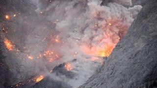 Spectacular volcanic eruption at Batu Tara volcano, Indonesia