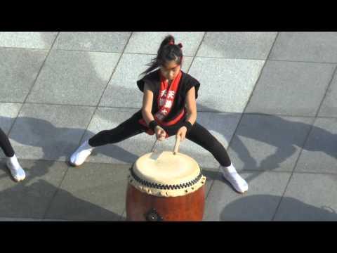 Sensational Young Taiko drummers - Powerful, brilliant. Nagasaki, Japan. Part 1.