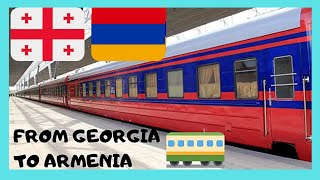 Spectacular TRAIN RIDE from TBILISI (Georgia)  to YEREVAN (Armenia), with the sunrise