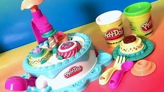 Massinhas Play Doh Fábrica de Bolos | Play Doh Dolci Dolcezze | Fábrica de Tartas.
