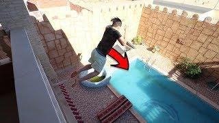 نطيت في المسبح من إرتفاع 10 متر !! (أصعب لحظة في حياتي !!!)
