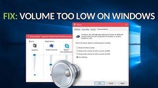FIX: Volume Too Low on Windows