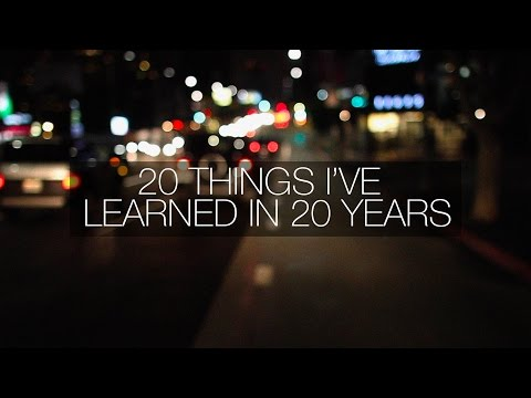 20 THINGS I'VE LEARNED IN 20 YEARS Mp3