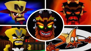 Evolution of Game Over Screens in Crash Bandicoot Games (1996-2017)