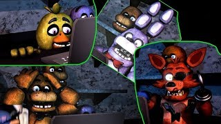 FNAF SFM: All FNAF1 Animatronics React to Ultimate Custom Night Trailer! (Special UCN Animation)