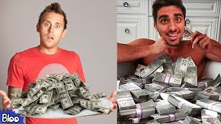 10 RICHEST YouTube Vloggers w/ Roman Atwood, Mo Vlogs, Tanner Fox, Lance Stewart, Fousey TUBE etc