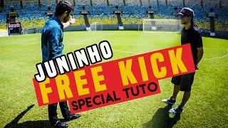 JUNINHO teaches me how to FREEKICK/ special tuto / @seanfreestyle