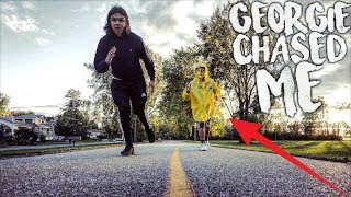 I WENT BACK TO THE SEWER AND GEORGIE CHASED ME! | RUNNING AWAY FROM GEORGIE  FROM