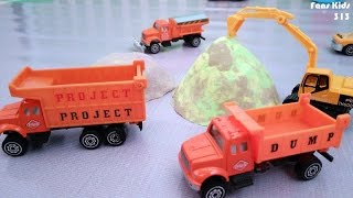 Toys Dump Truck Project, Excavator, Compactor I Vidio For Kids