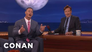 "John Cena Teaches The Audience To Sing ""John Cena Sucks!""  - CONAN on TBS"