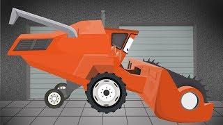 Bulldozer, Tractor, Combine Harvester | Garage for Kids | Buldożer, Ciągnik, Kombajn dla dzieci