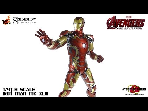 Hot Toys Avengers Age of Ultron 1 4th scale Iron Man MK XLIII Video Review