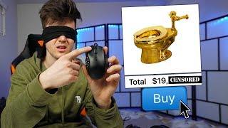 Buying EVERYTHING I CLICK *BLINDFOLDED* Challenge
