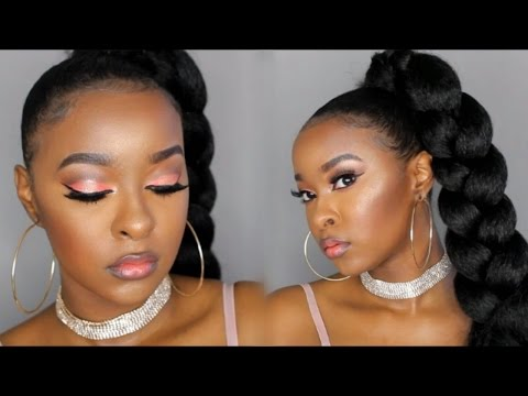 GLOWY AF MAKEUP | PEACH 🍑 SUMMER MAKEUP TUTORIAL 2017 | Pitts Twins