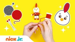 5 Minutes to Knit It: Rod from Top Wing 🐤 | Arts and Crafts Video | Nick Jr.
