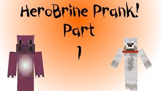 Minecraft Xbox - Herobrine Prank - Part 1
