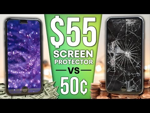 0.50 Screen Protector vs 55 Sapphire Protector DROP Test