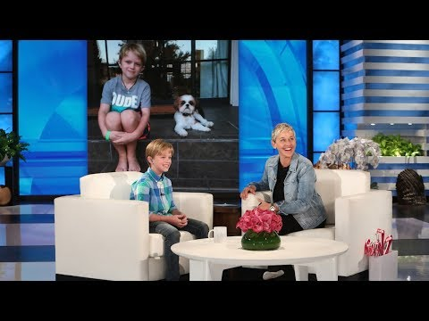 Ellen Meets a 10 Year Old Raising Money for Hearing Impaired