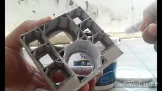 Como emassar mini paredão