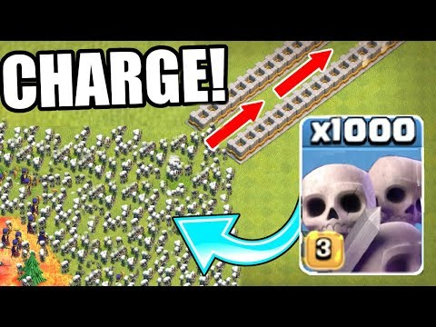 1000 SKELETONS SWARM THE NEVER ENDING SPIRAL WHAT HAPPENS NEXT Clash Of Clans