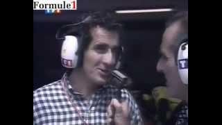 Imola 1994 - Message d'Ayrton Senna pour Alain Prost en direct sur TF1