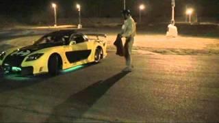 Veilside RX7 LS1 Batmobile Drifting at AMP Halloween Drift Night