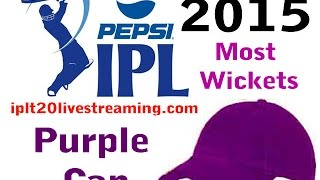 IPL 8 2015 -TOP 10 MOST WICKET TAKERS IPL-8 2015