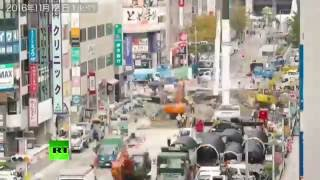 Timelapse of Japanese incredibly swift sinkhole repair goes viral