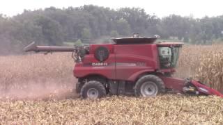 Case IH 8230 Axial-Flow Combine Shelling Corn