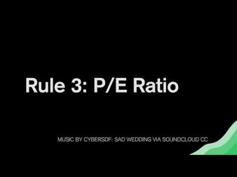 Value Investing Rules: How To Use The PE Ratio To Pick Stocks