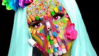 FULL Face Of KIDS Nail Polish & Nail Art! | Crazy Nail Polish Zombie SFX Makeup Tutorial!