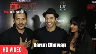 Varun Dhawan at Body Sculptor gym and Lean Kitchen Launch
