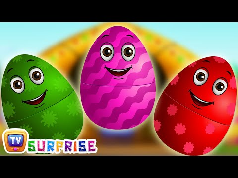Surprise Eggs Nursery Rhymes Old MacDonald Had A Farm Learn Colours & Farm Animals ChuChu TV