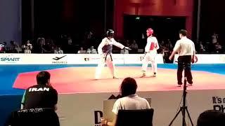 22nd Asian taekwondo championship 2016 semifinals Iran vs India (Naveen sandhu ) round 2