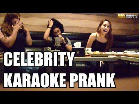Celebrity Karaoke Prank - Maxmantv