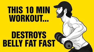 10min Dumbbell Belly Fat Destroyer Workout : Get 6 Pack Abs Fast