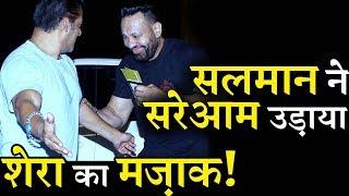 VIDEO: Salman Khan Teases His Bodyguard Shera At Airport