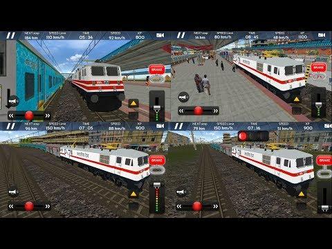 Train Driving Game - Engine WAP P7 | Humsafar Express - Indian Train Simulator 2018 - Free GamePlay