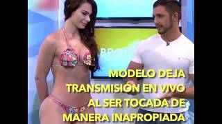 BRAZILIAN BIKINI MODEL SLAPPED ANCHOR IN A TV SHOW