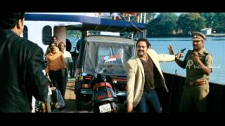 Christian Brothers Movie Scenes | Mohanlal escapes from police | Biju Menon