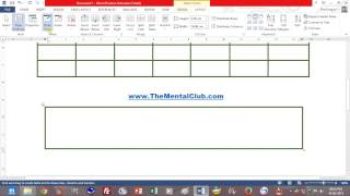 Microsoft Word 2013 Video Tutorial in Bengali (Part-4)  Table Customization