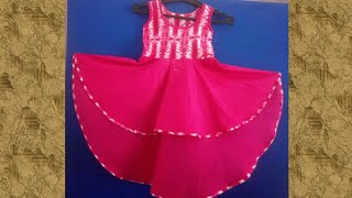 HIGH  LOW  UMBRELLA FROCK DRESS |  UMBRELLA FROCK CUTTING AND STITCHING IN HINDI
