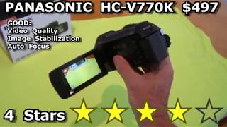 HC-V770K Sample Video and REVIEW Panasonic HD Camcorder 4K AVCHD or MP4 best for youtube 60p fps
